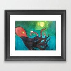 Octopus and Rabbit Framed Art Print