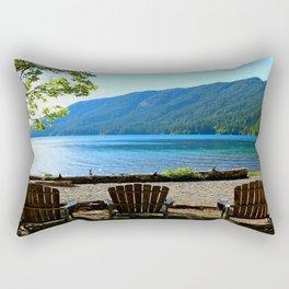 Adirondack Chairs at Lake Cresent Rectangular Pillow