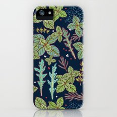 dark herbs pattern iPhone SE Slim Case
