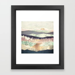 Golden Spring Reflection Framed Art Print