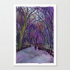 NYC Literary Walk in Purple Canvas Print