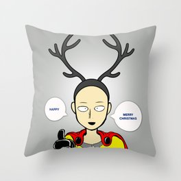 Happy Merry Christmas  Throw Pillow