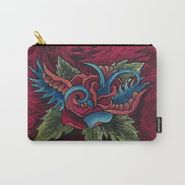 Sparrow Rose Carry-All Pouch