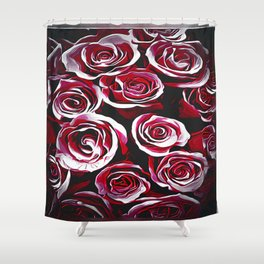 Floral Embosses: Roses 02-01 Shower Curtain