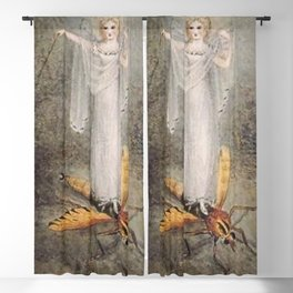 """Fairy Standing on a Gnat"" by Amelia Jane Murray Blackout Curtain"