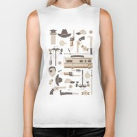 walking dead Biker Tanks featuring The Walking Dead by Tracie Andrews