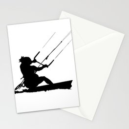 Wakeboarder Water Sport Silhouette Stationery Cards