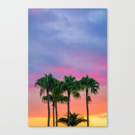 Sunset tropical vibes Canvas Print