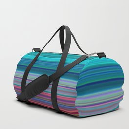 Blurry Saturn Stripes Duffle Bag