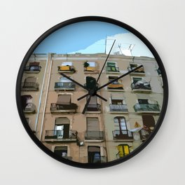 Barcelona Building  Wall Clock