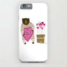 Bear with loveheart iPhone 6s Slim Case