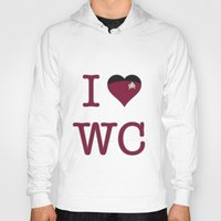 wesley bird Hoodies featuring I Heart Wesley Crusher by Illustrated by Jenny