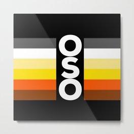 Oso / Bear Flag for LGBT pride or Bear Week Metal Print