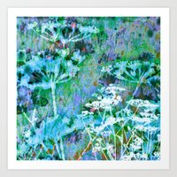 Meadow (blue/green) Art Print