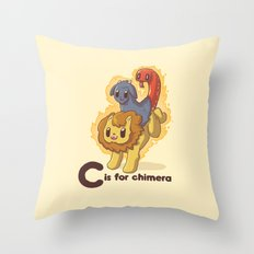 C is for Chimera Throw Pillow