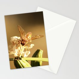 Cicada Hornet on Iris in Sepia Stationery Cards