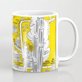PITTSBURGH University map PENNSYLVANIA  dorm decor Coffee Mug
