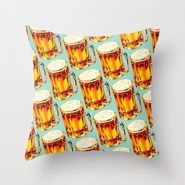 Beer Pattern 2 Throw Pillow