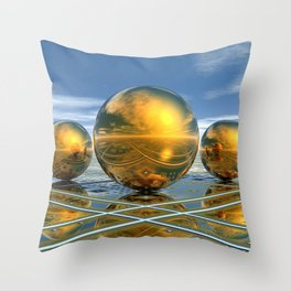 Big Brass Ones Throw Pillow