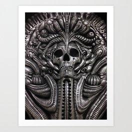 Behind the Veil Close-Up Art Print
