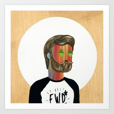 6x6 Man Art Print