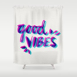 Good Vibes – Magenta & Cyan Shower Curtain