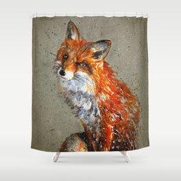 Fox background Shower Curtain