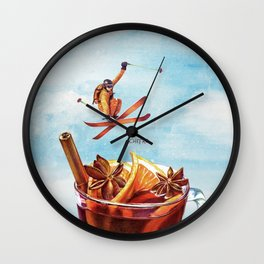 Winter Club Wall Clock