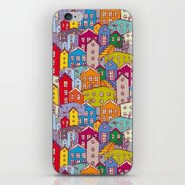 Cityscape Sketch iPhone Skin