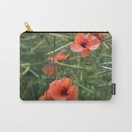RED POPPY FLOWERS - Isle Ruegen Carry-All Pouch