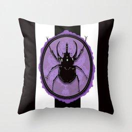 Juicy Beetle PURPLE Throw Pillow