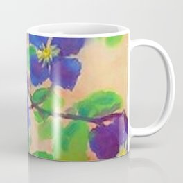 Sunflowers, violets, and peonies flower garden watercolor by Emil Nolde Coffee Mug