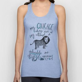 COURAGE: PRIDE AND PREJUDICE by JANE AUSTEN Unisex Tank Top