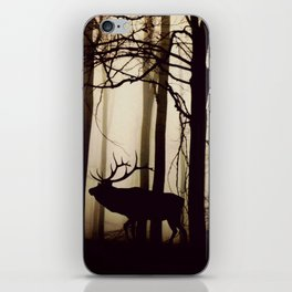 Forest night deer iPhone Skin