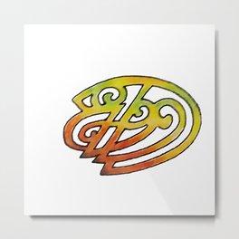 Orange and Green 2 Metal Print