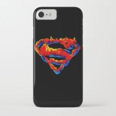 Superman in Flames iPhone 8 Slim Case