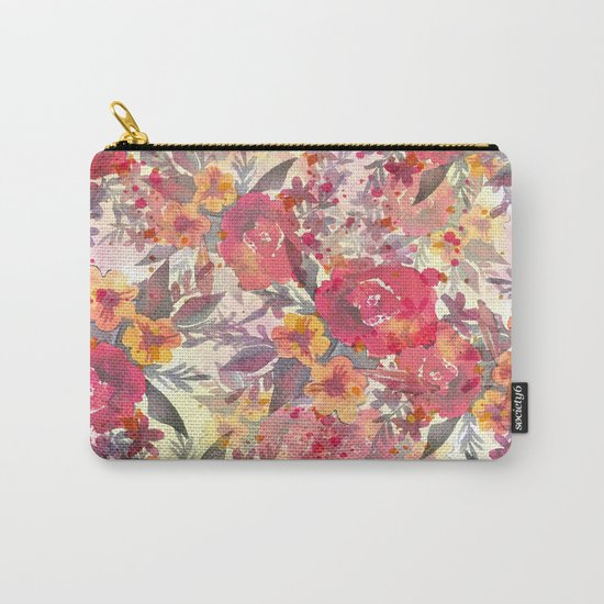 Watercolor flowers and plants Carry-All Pouch