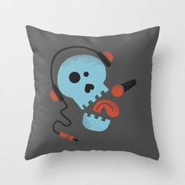 Calavera rockera / Rocking skull Throw Pillow