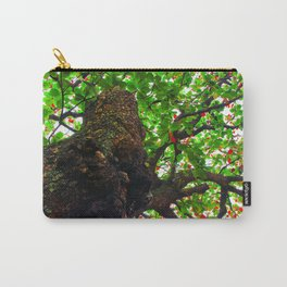 big tree with green leaves and red leaves Carry-All Pouch