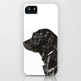 Black Lab Print iPhone Case