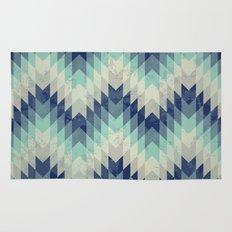Chevron pattern_Blue Rug
