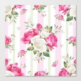 Belle époque flower power Canvas Print