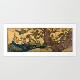Cypress Tree 檜図 by Kanō Eitoku (c 1590) Art Print