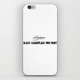 Black Camouflage War Paint iPhone Skin