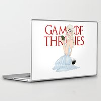 mother of dragons Laptop & iPad Skins featuring Mother Of The Dragons (no background) by Guilherme Mauad
