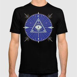 Evil Eye Mandala – Navy T-shirt