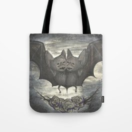 Two Headed Bat - Halloween Tote Bag