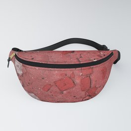 Snow White and Brick Red Fanny Pack