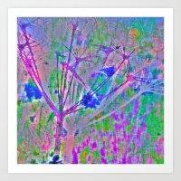 Neon Meadow Art Print