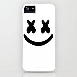Marshmello Face black iPhone Case